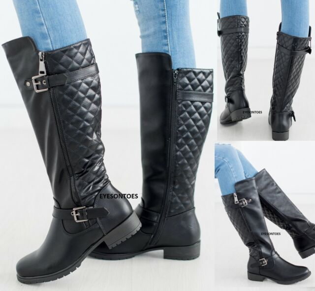 Leather Knee High Wedge BOOTS Size