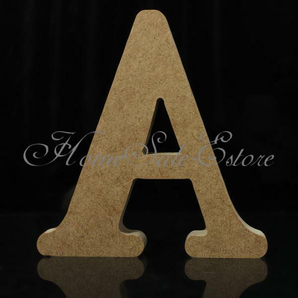 10X1.5cm(thick) Wood Wooden Letters Alphabet DIY Bridal Wedding Party Home Decor