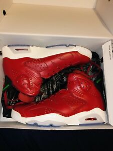 Air-Jordan-Retro-6-Spizike-HOJ-size-9-New-With-Defects-DS-694091-625