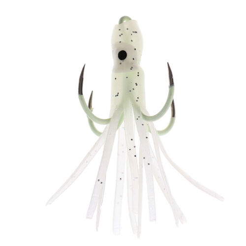 Fishing Lure Glow Night Quadruple Hook Luminous Octopus Artificial Bait Hoxx SU