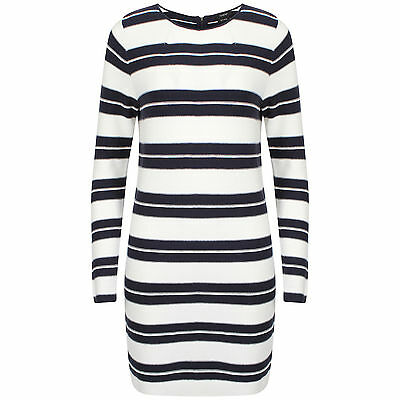Autograph M&S Marks and Spencers Navy and White Wool Jumper Dress New with tags