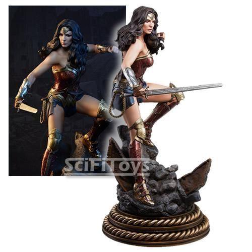 Escala 14 Estatua Figura de formato Premium Mujer Maravilla Sideshow Collectibles