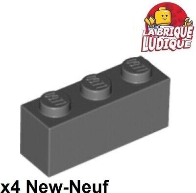 2019 Nuovo Stile Lego - 4x Mattoncini Mattone 1x3 Grigio Scuro/dark Offerta Gray 3622 Nuovo Morbido E Antislipore