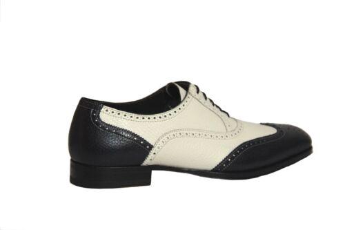 Mezlan Men/'s Vivaldi Oxford Dark Navy//Bone Leather Dress Shoes 16742