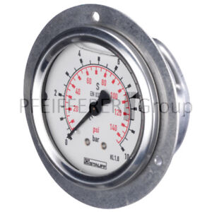 "Hydraulik, Pneumatik & Pumpen Contemplative Wika Manometer 250 Bar Ø63mm-1/4"" Business & Industrie"
