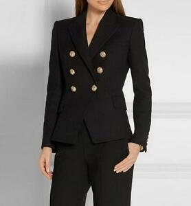 2017 Korean Blazer Formal Carrere Double Breasted New Womens Gold