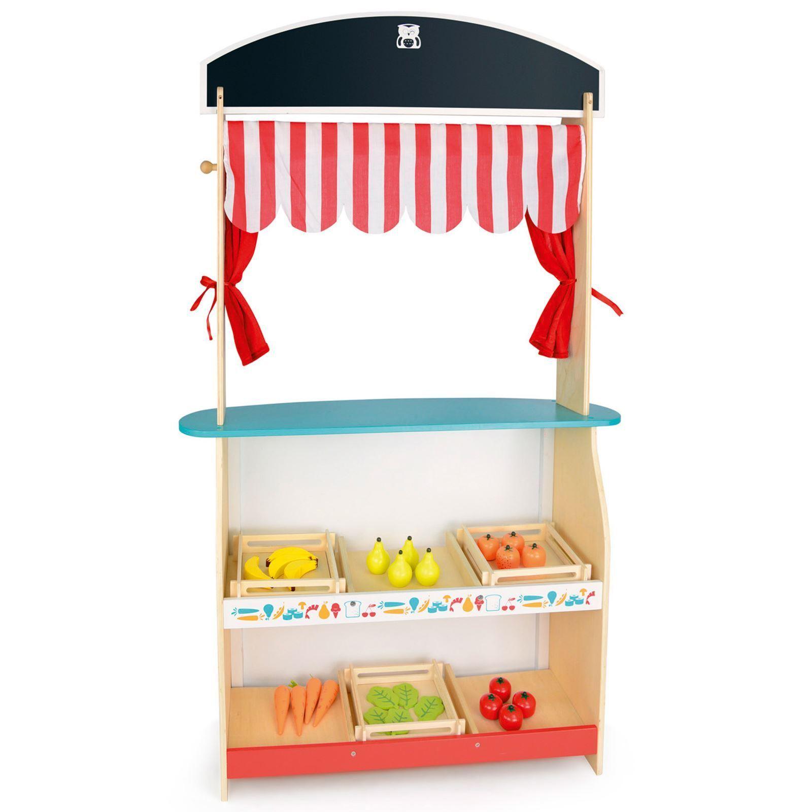 Leomark Holz Shop & Theater Kinder 2 in 1 Spielset Spaß Activity Spielraum