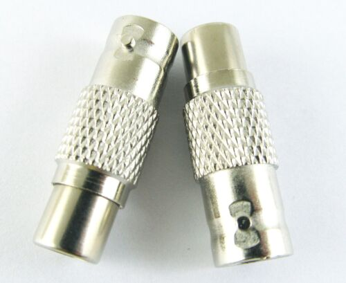 30 x BNC Female Jack To RCA Female Jack  CCTV Connector Adapter Nickel Plated