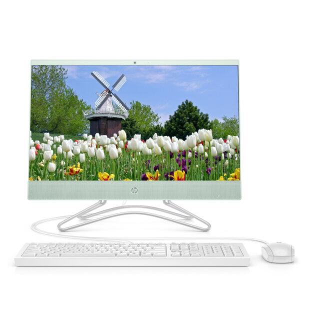 """NEW HP All-in-One 21.5"""" FHD Intel G4900T 4GB RAM 1TB HDD DVD Webcam Win 10 Mint"""