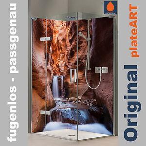 image is loading corner shower back wall rear panel shower aluminium - Ruckwand Dusche Bild