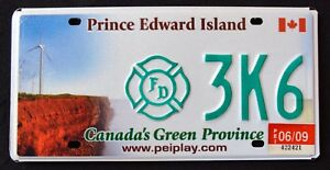 CANADA-034-PRINCE-EDWARD-ISLAND-FIREFIGHTER-WINDMILL-034-PEI-Specialty-License-Plate