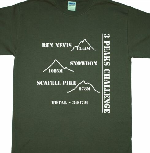 3, Ben Nevis, Snowdon, Scafell Pike Trois pics défi t-shirt