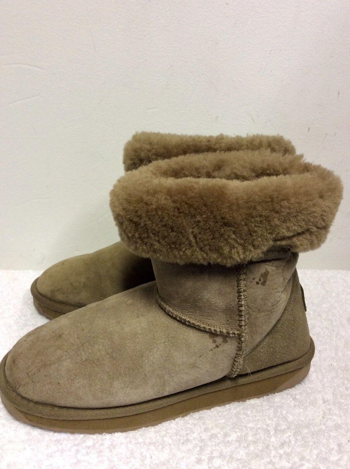 EMU STINGER LO LO LO LIGHT braun SHEEPSKIN FUR LINED ANKLE Stiefel Größe 6 39 COST a00915