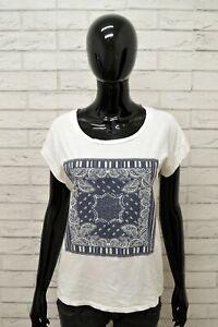 Maglia-LIU-JO-Donna-Taglia-M-Maglietta-Shirt-Woman-Cotone-Bianco-Manica-Corta