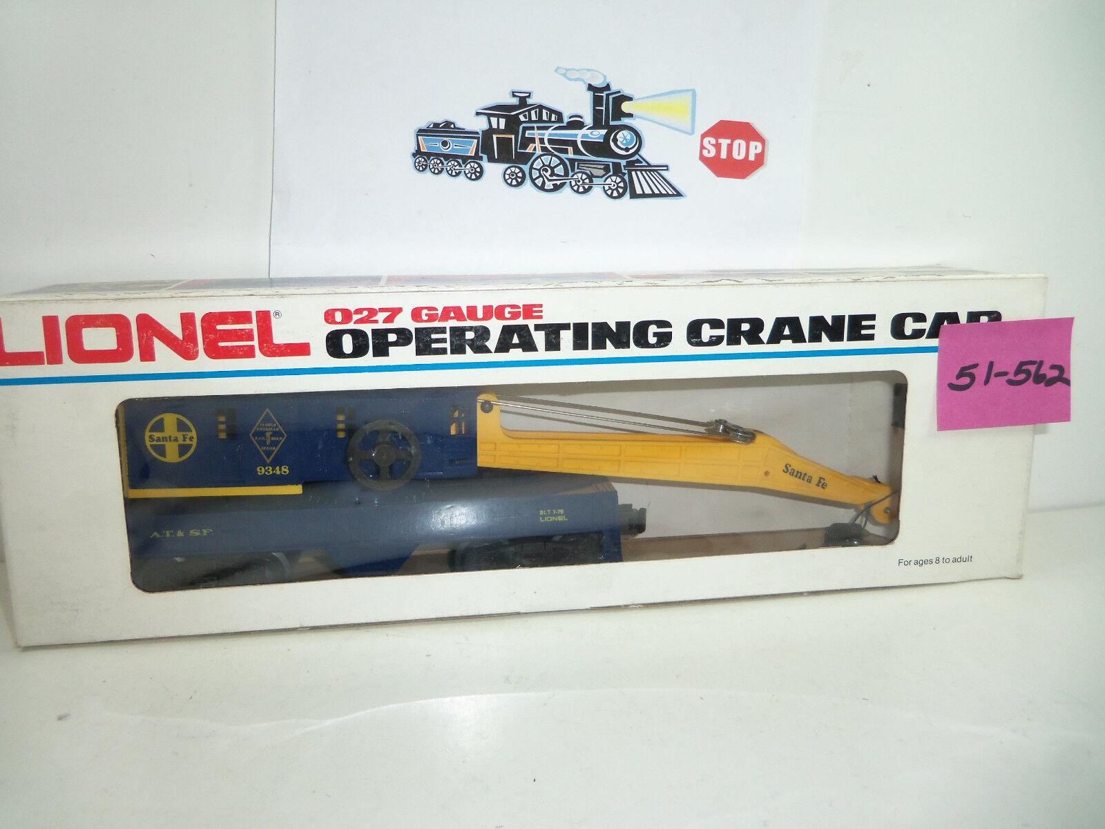 Lionel Santa Fel Crane Car NOS 51-562