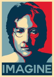 Image Is Loading John Lennon Poster IMAGINE HOPE PEACE Small A4
