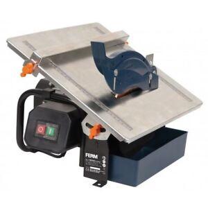 Ferm 180mm 600w wet electric tile cutter saw free diamond blade ebay image is loading ferm 180mm 600w wet electric tile cutter saw keyboard keysfo Images