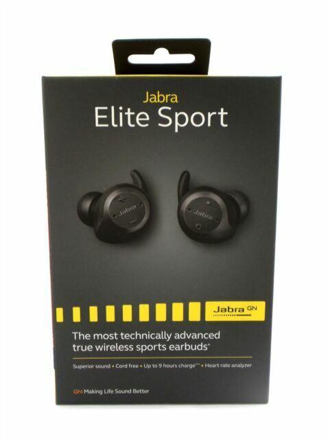 Jabra Elite Sport Wireless In Ear Headphones Black For Sale Online Ebay