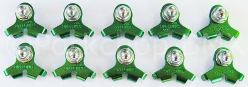 GREEN 10 PACK Dia-Compe 2001 bicycle cantilever U-brake brake cable hanger