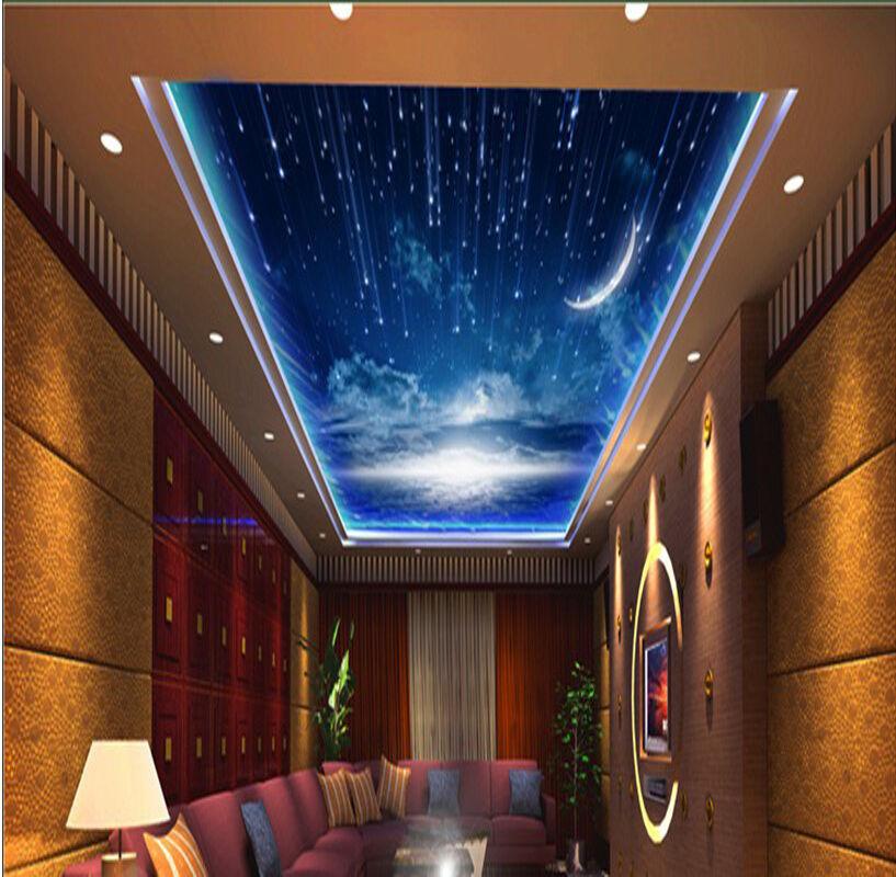 3D Nacht blauen Himmel 278 Fototapeten Wandbild Fototapete BildTapete Familie DE