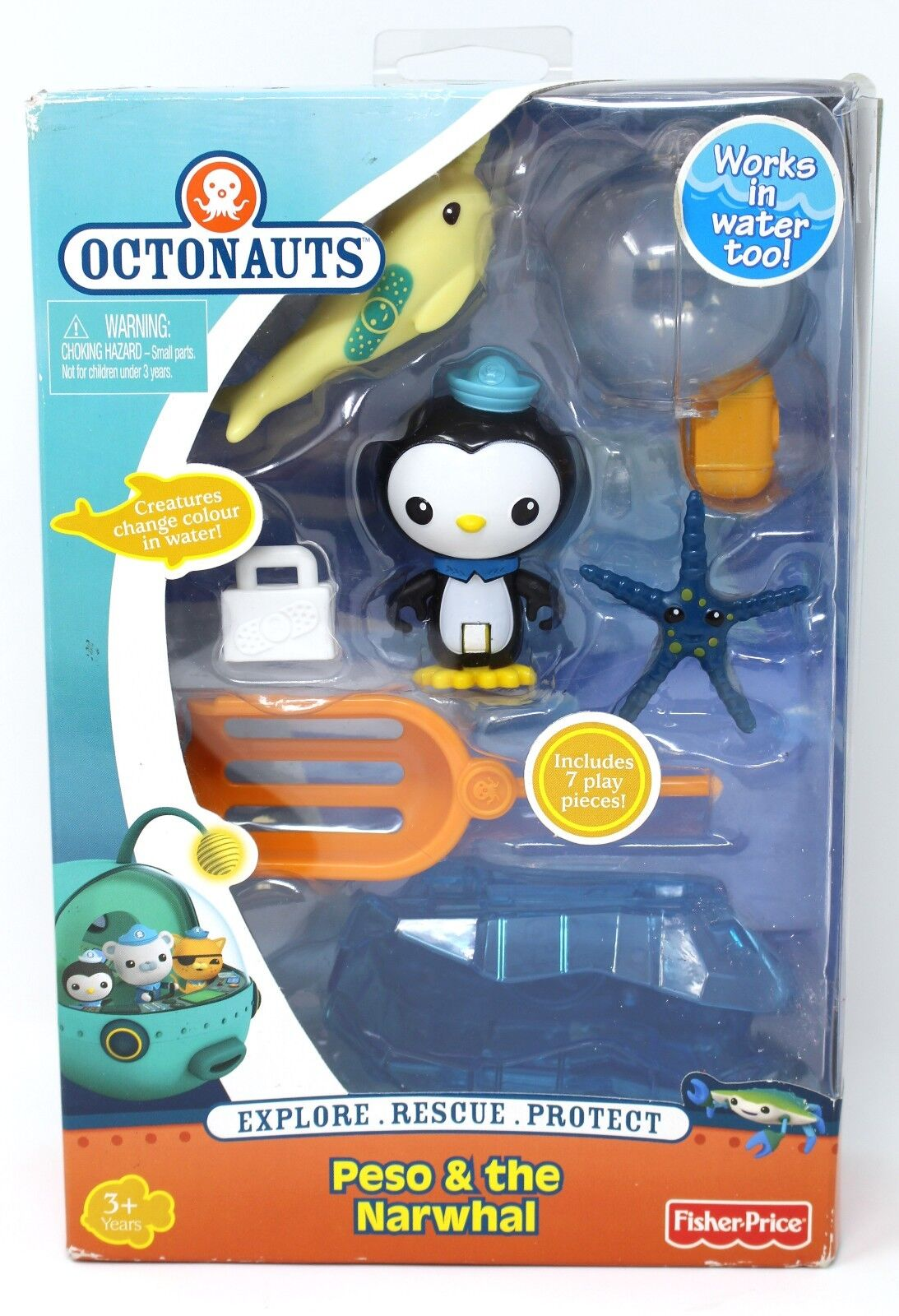 Octonauts actionfigur rettungs - kit peso und der einhornwal.fisher - price