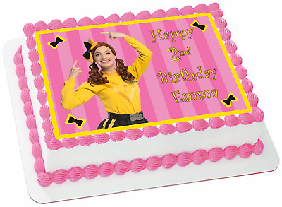 WIGGLES EMMA A4 Edible Icing Birthday Cake Party Decoration Topper