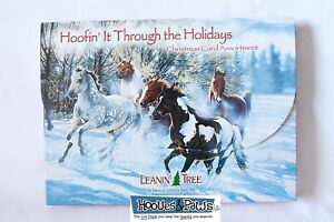 Leanin-Tree-Hoofin-it-Through-the-Holiday-Christmas-20-Cards-Box-Envelopes