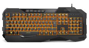 Teclado Gaming KROM KROWN Multicolor Membrana Keyboard USB LED QWERTY ES
