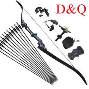 "30//40lb Archery 57/"" Takedown Recurve Bow 12x Arrows Adult Beginner Training"