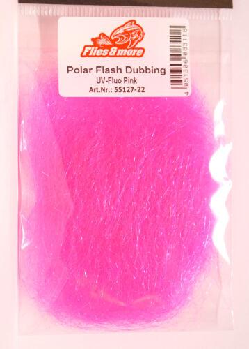 Polar FLASH UV Dubbing Sybai langfaserig UV Fluo Pink