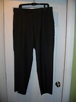 Men's Perry Ellis Portfolio Dress Pants 36w X 30l Dark Gray Flat Front
