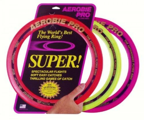 "New Large 13/"" Frisbee Disc Outdoors Colors May, Aerobie Pro Ring 13C12"