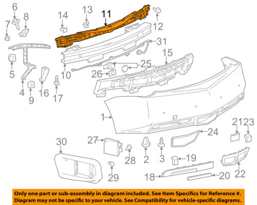 Cadillac GM OEM 11-15 CTS Rear Bumper-Support Bracket 25995693