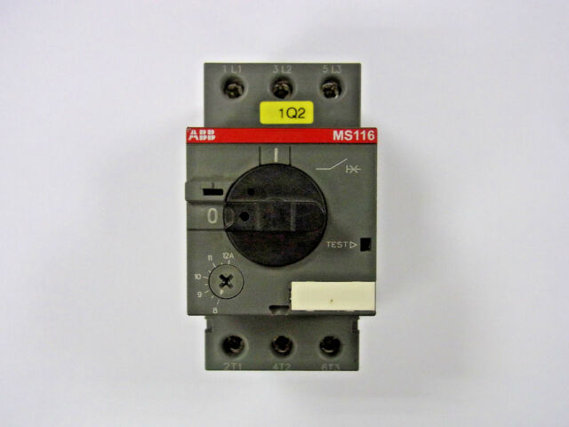1pc New ABB Motor Protection Circuit Breaker MS116-12 8-12A