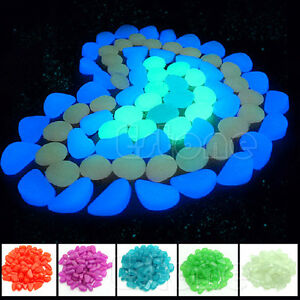 Image Is Loading 100 Pcs Glow In The Dark Stones Pebbles