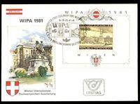 Austria 1981 Wipa Stamp Exhibition M/S FDC #C7747