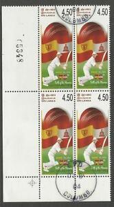SRI-LANKA-2004-CRICKET-ANANDA-NALANDA-75th-LOWER-LEFT-CORNER-BLOCK-OF-4-USED
