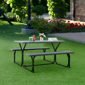 Picnic-Table-Bench-Set-Outdoor-Backyard-Patio-Garden-Party-Dining-All-Weather