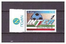 s16047) ITALIA 1989 MNH** INTER Campione '89 + tab NAPOLI