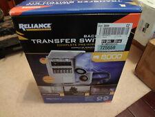 Reliance Controls Back Up Power Transfer Switch Kit Model No 3006hdk
