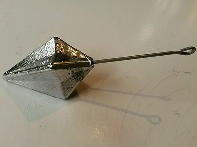 Pyramid surf fishing sinker, 170g rock fishing sinker, anti-snag sinker x4