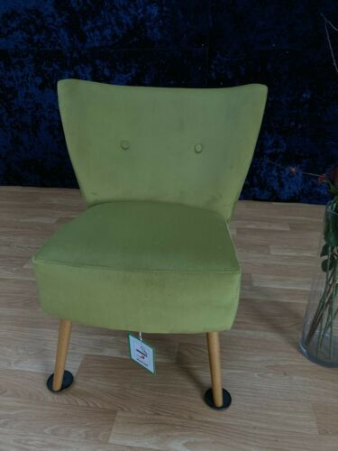 Chloe Cocktail Accent Chair, Brussels Green Velvet, RRP £269