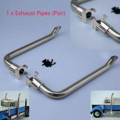 Stainless Steel For LESU 1//14 RC Model DIY TAMIYA Truck Exhaust Pipe Metal Car