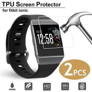 2x-TPU-Tempered-Glass-Screen-Protector-Film-Guard-Shield-For-Fitbit-Ionic-Watch