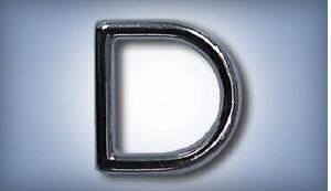 "10ea 3/4"" D-Ring Zinc Diecast Nickel Plate 452Z"