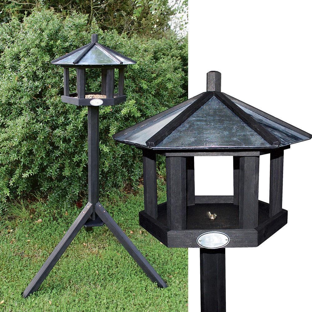 Vogelhaus mit Ständer 128cm Anthrazit Futterhaus Vogelhäuschen Vogelfutterhaus | Qualität zuerst  | Elegantes Aussehen  | Günstige