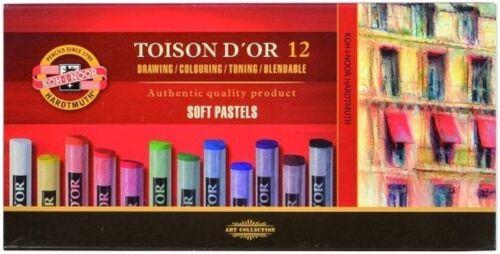 KOH-I-NOOR Soft Pastellkreide rund fettfrei Künstlerqualität Setgröße 6er 72er