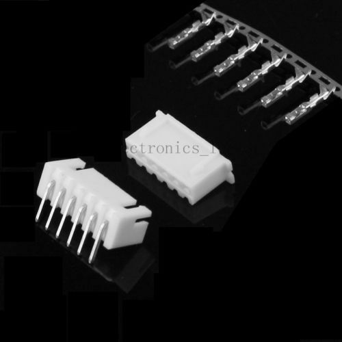 100sets 6pin XH2.54 Right Angle male connector+Terminal+female pin connector