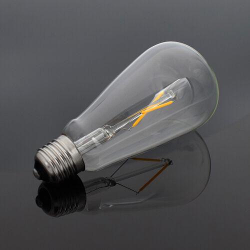 E27 4-16W Retro Edison Filament COB LED Bulb Vintage Wall Light ST64 Lamps F018