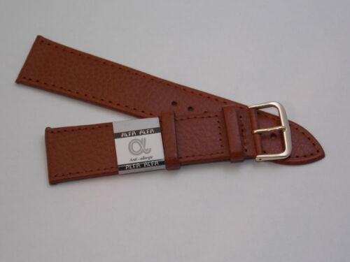 Cinturino vera pelle Marrone gold piatto Extra lungo Leather strap XXL Brown
